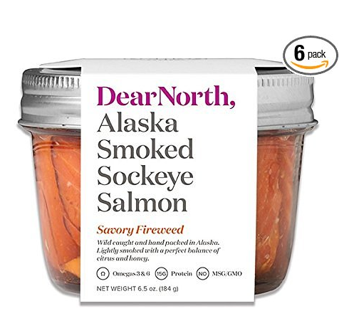 Dear North Case of 6 Alaska Smoked Sockeye Salmon – Available in 2 Flavors