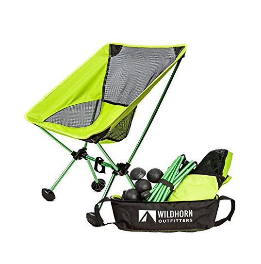 WildHorn Outfitters Portable Terralite Chair - Perfect For Beach, Camping, Backpacking, & Outdoor Festivals, Compact & Heavy Duty, Available in 5 Colors