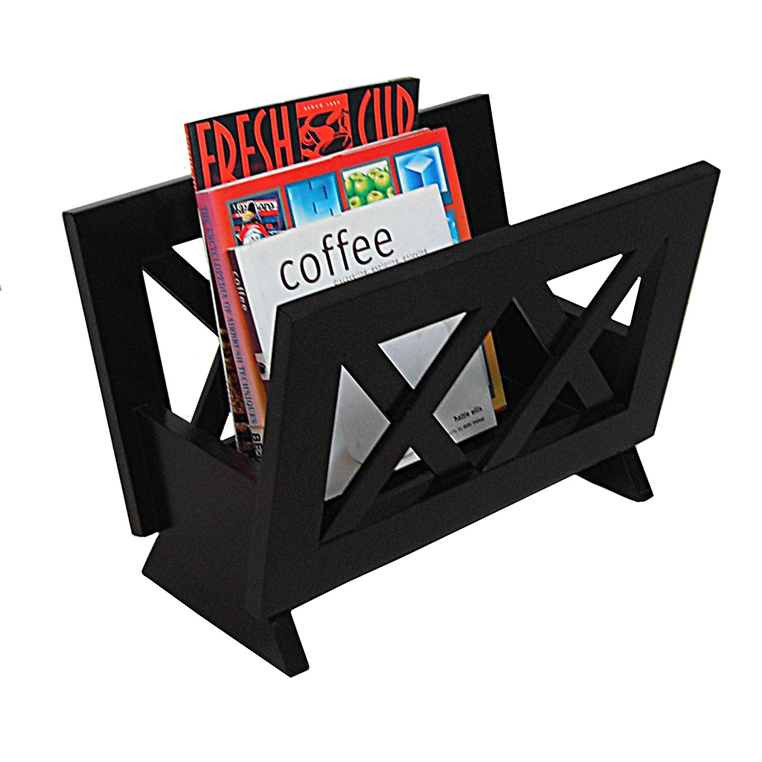 Oceanstar Contemporary Magazine Rack