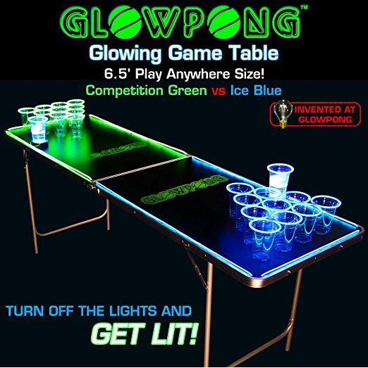 GlowPong Glowing Beer Pong Table