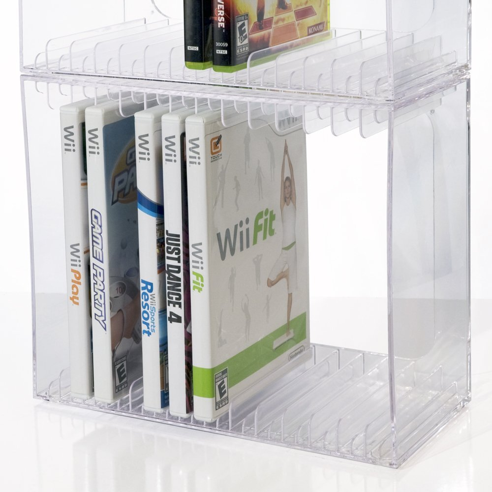 US Acrylic, LLC Stackable DVD Holder