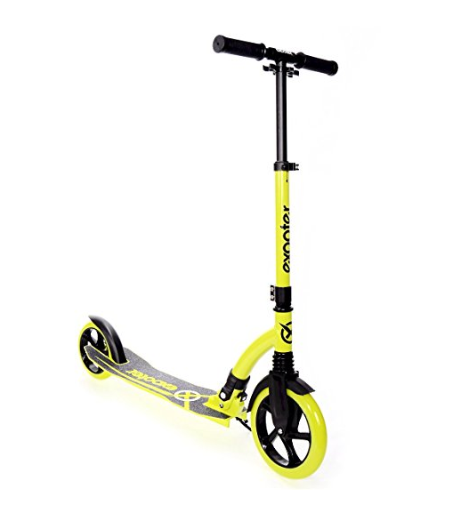 EXOOTER 6XL Adult Kick Scooter With Front Shocks And 180mm/240mm Wheels – Available in 2 Colors
