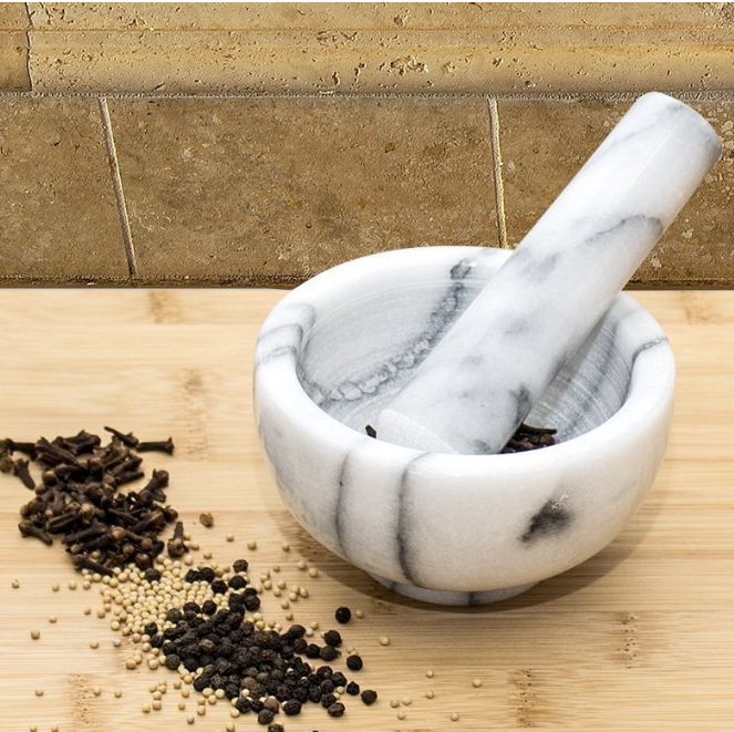 Greenco Marble Mortar and Pestle