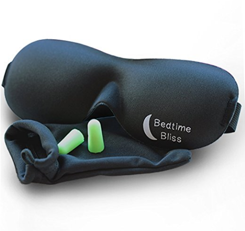 Bedtime Bliss Contoured & Comfortable Sleep Mask in Black