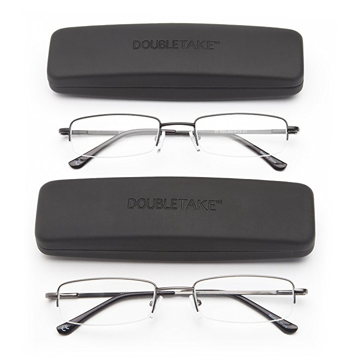 DoubleTake Half Rim Reading Glasses