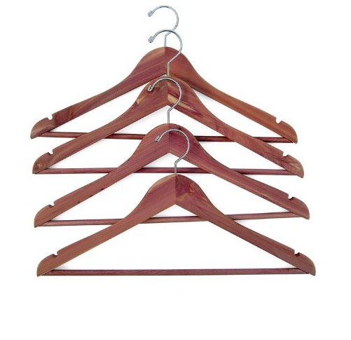 Household Essentials Cedar Hanger with Fixed Bar