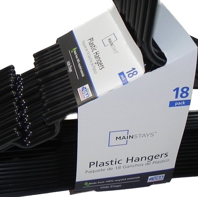 Mainstay Standard Plastic Adult Hangers