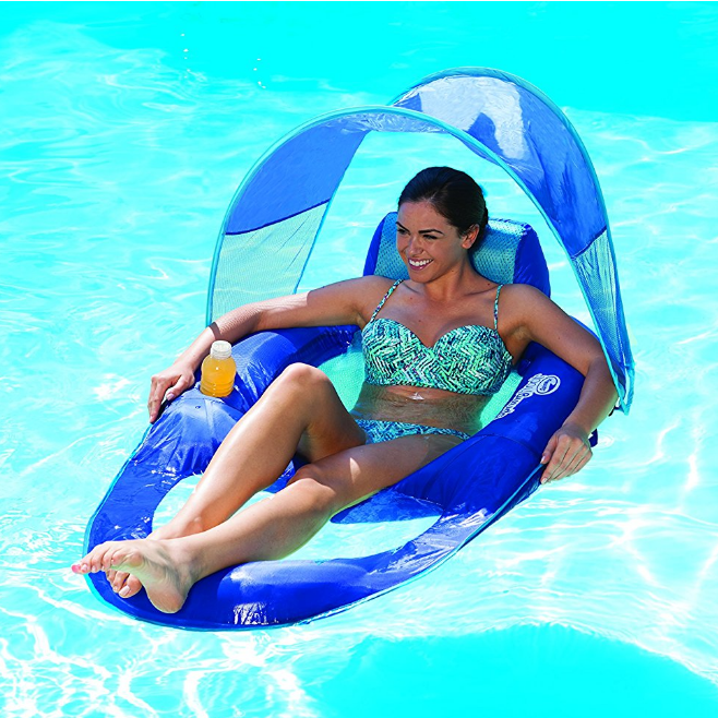SwimWays Float Recliner with Canopy