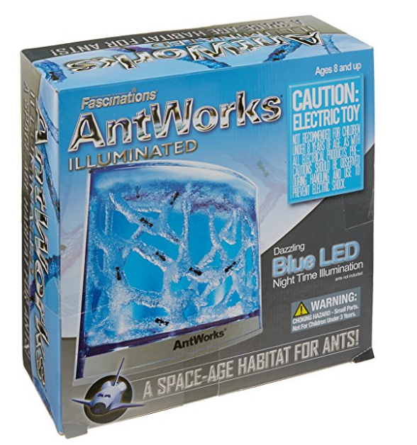 Fascinations AntWorks Illuminated Blue Ant Farm