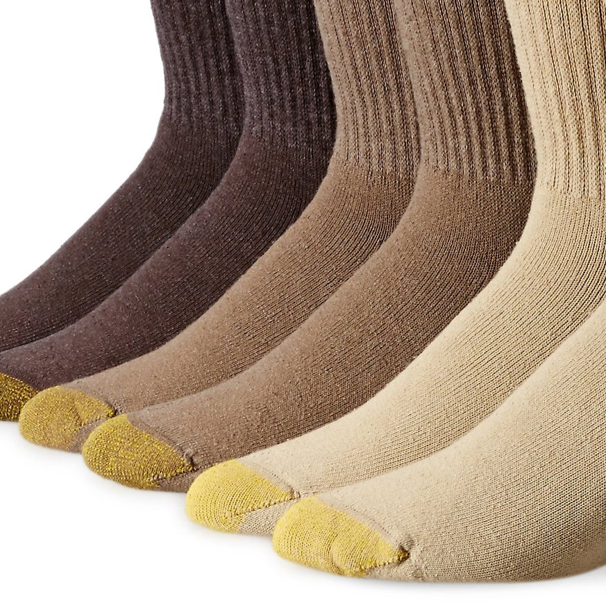 Gold Toe Cotton Crew Athletic Sock 6-Pack