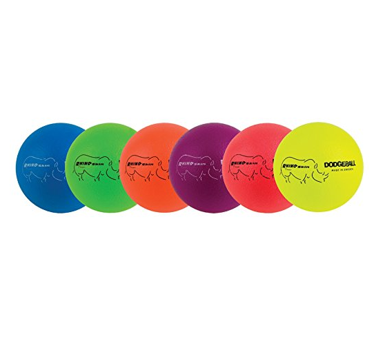 Champion Sports 6 Inch Rhino Skin Dodgeball – Available in 10 Colors & in a 6 Pack