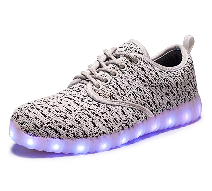 VENSHINE Men's Women's LED Luminous Glowing Flashing Sneakers – Available in 12 Sizes & 4 Colors