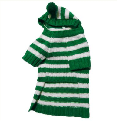 Stinky G Forest Green Stripe Dog Hoodie Sweater – Available in 5 Sizes