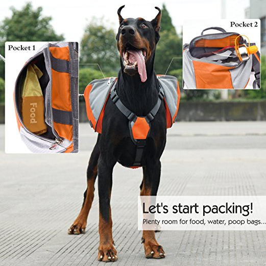 Pawaboo Adjustable Dog Backpack