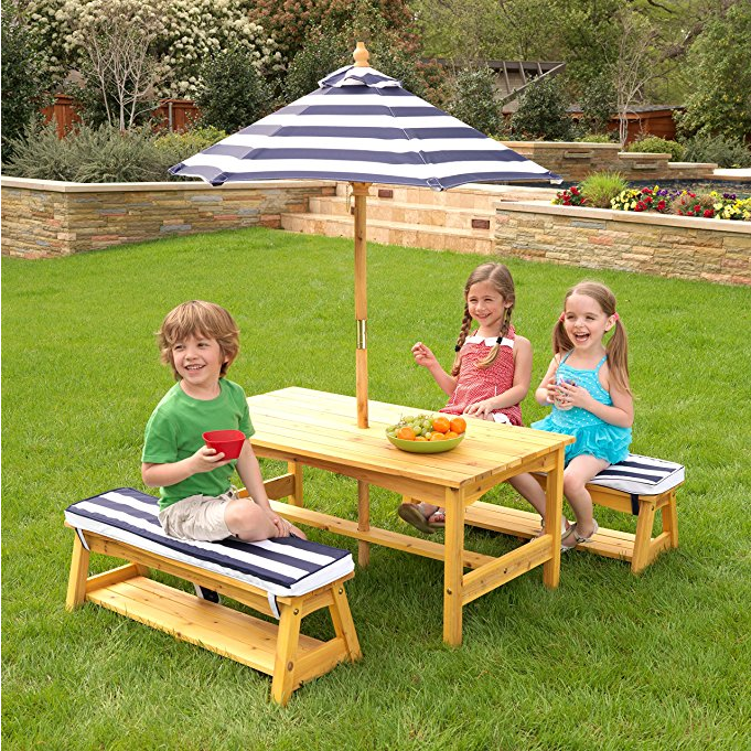 KidKraft Outdoor Table and Chair Set for Kids