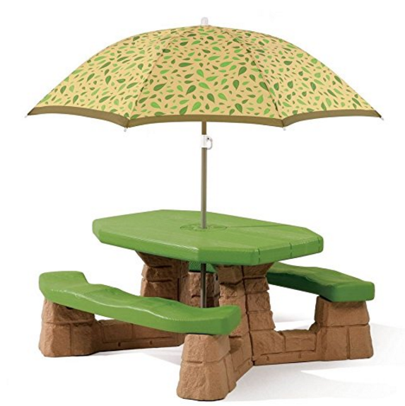 Step2 Naturally Playful® Picnic Table for Kids with Umbrella