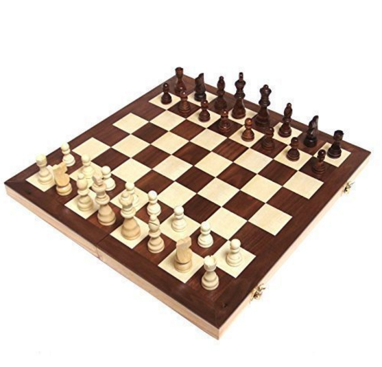 "Chess Armory 15"" Wooden Chess Set"
