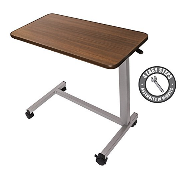 EVA Medical Overbed Table with Wheels