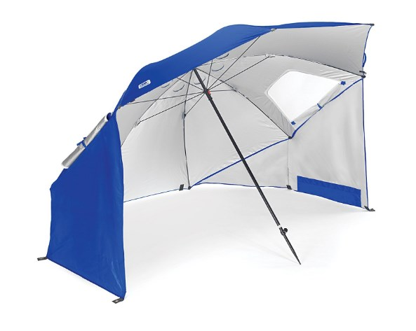 Sport-Brella 3-In-One Umbrella with 8 Foot Canopy - Protects from Sun, Wind and Rain, Available With or Without Floor,  Choice of 3 Colors