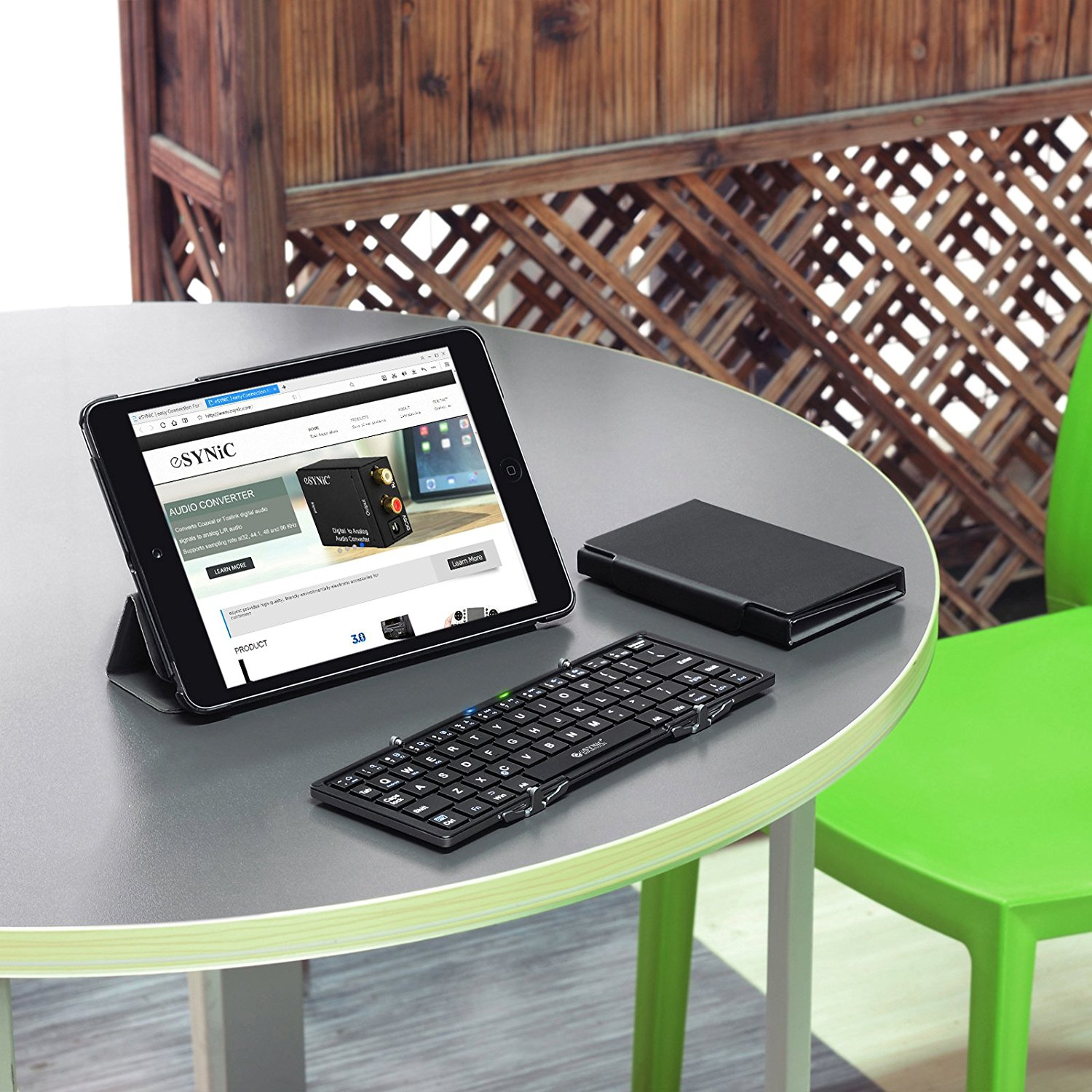 eSynic Foldable Wireless Bluetooth Keyboard