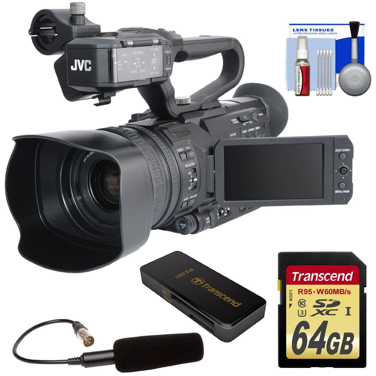 JVC 4KCam Compact Handheld Camcorder