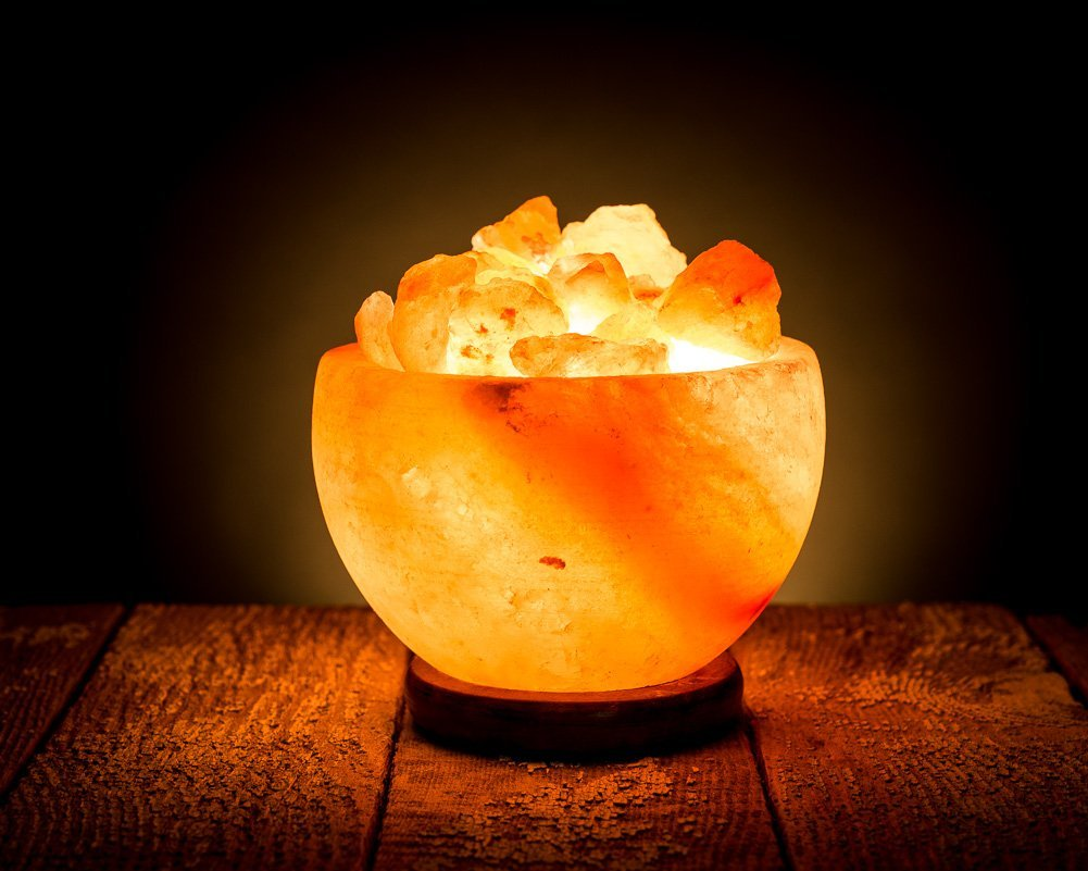 HemingWeigh Rock Salt Bowl Lamp