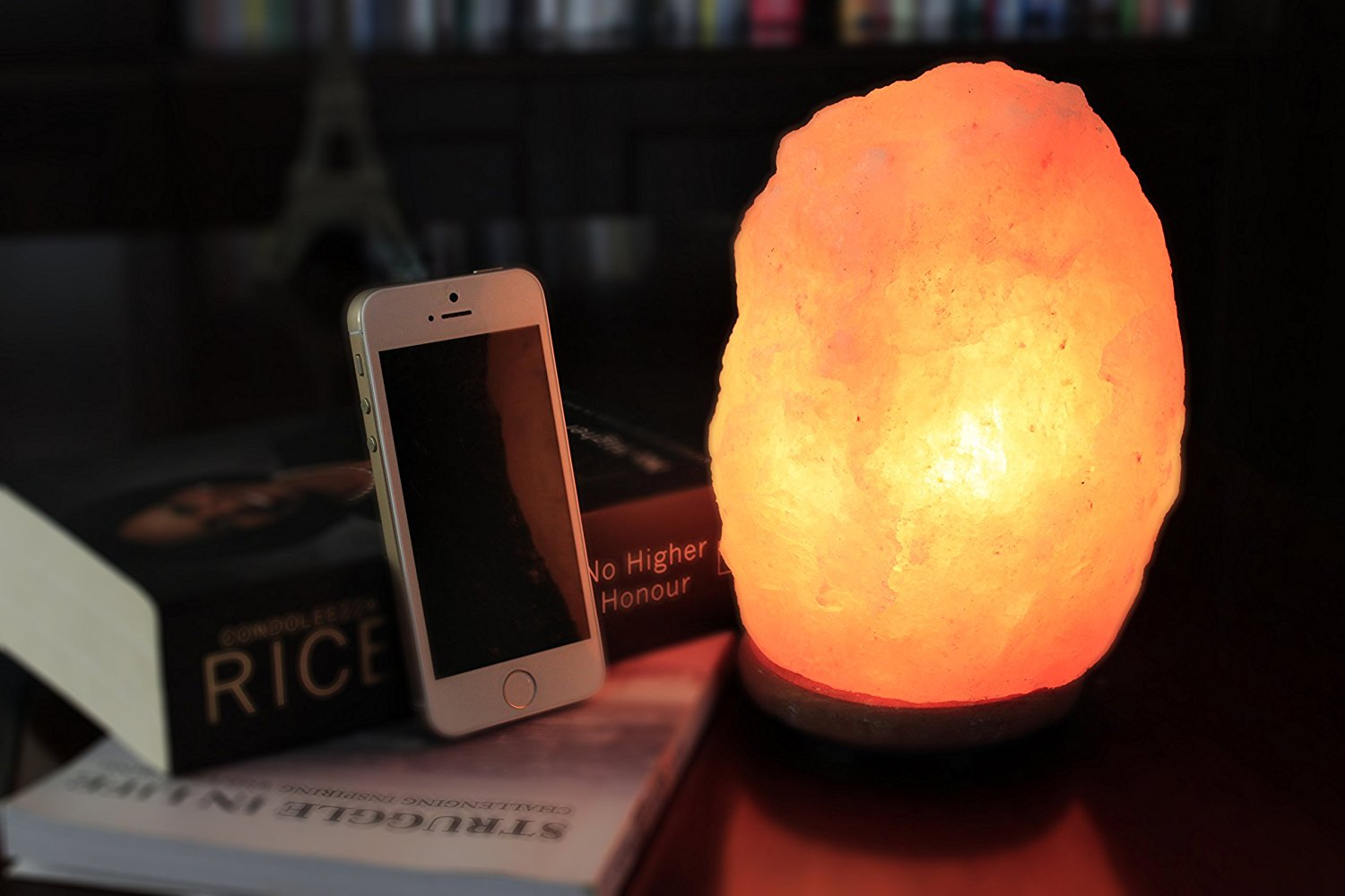 WBM LLC Hand Carved Natural Crystal Lamp