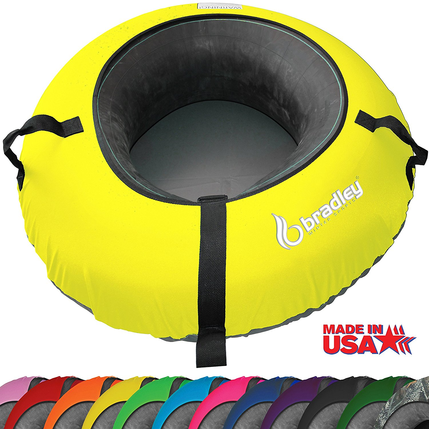 "Bradley Snow Tube Sled with 48"" Cover – Available in 12 Colors"