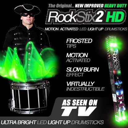 RockStix HD Green Drumsticks
