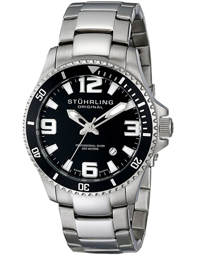 Stuhrling Swiss Quartz Dive Watch