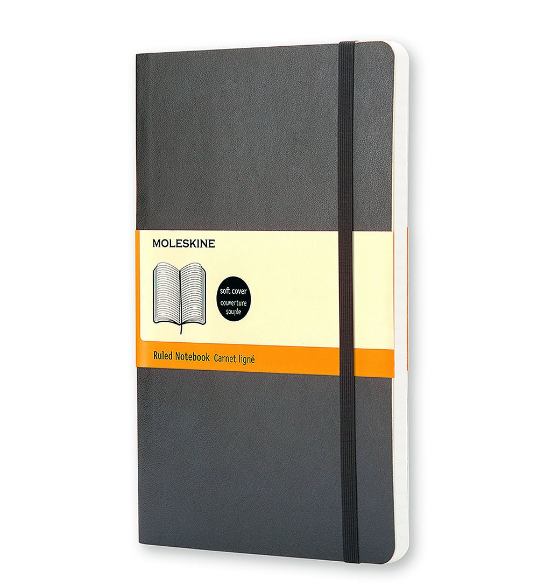 Moleskine Classic Ruled Black Soft Cover Pocket Notebook – 3.5 x 5.5 Inches