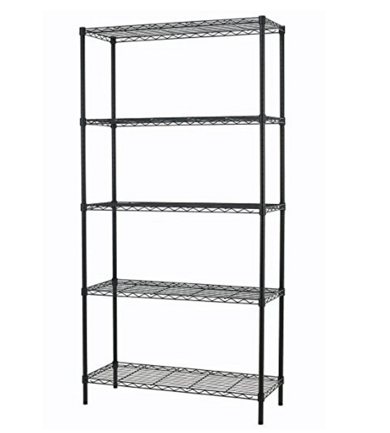 PayLessHere Black Shelving Unit