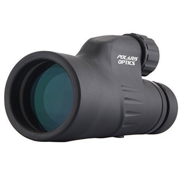 Polaris Optics Explorer 12X50 Monocular - Bright and Clear with Single Hand Focus, Waterproof & Fogproof for Bird or Wildlife Watching