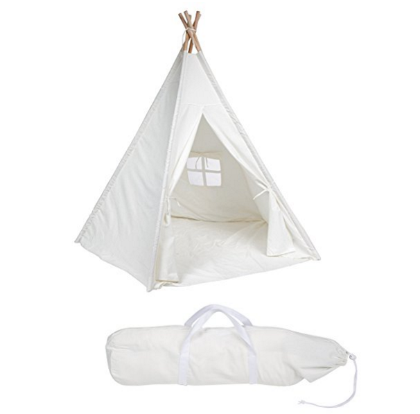 Trademark Innovations White Canvas Teepee