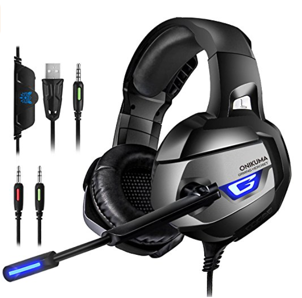 ONIKUMA K5-Series Gaming Headset with Headphone for PS4, Xbox One, Nintendo Switch
