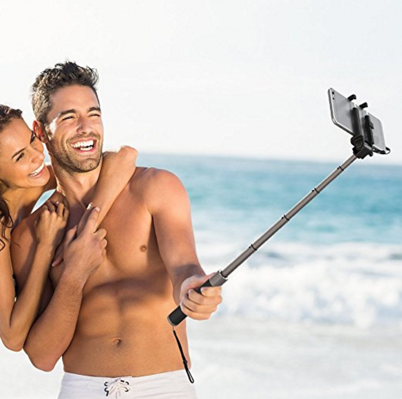 TaoTronics Bluetooth Selfie Stick with Tripod Stand
