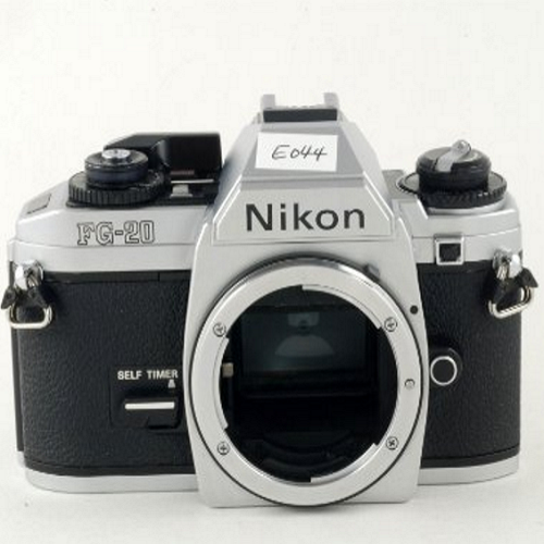 Nikon FG-20 Film Camera –Automatic Film Advance – Optional Motor Drive Use