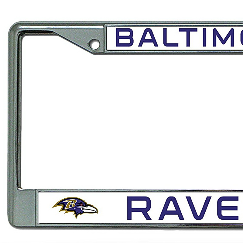 Rico NFL Chrome License Plate Frame