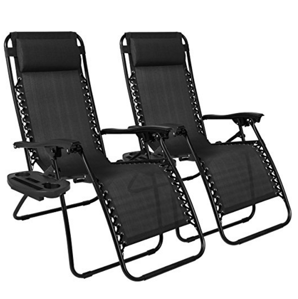 Best Choice Products Zero Gravity Chairs Case of 2 Lounge Patio Chairs – Available in 5 Colors