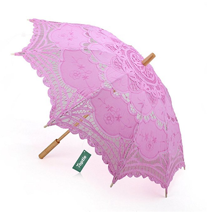 TopTie Lace Umbrella Wedding Parasol