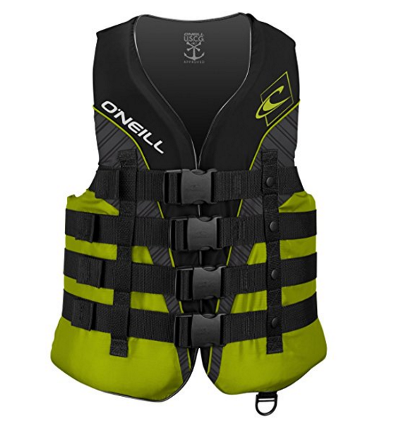 O'Neill Wetsuits Wake Waterski Men's Superlite USCG Nylon Life Vest – Available in 4 Colors & 6 Sizes