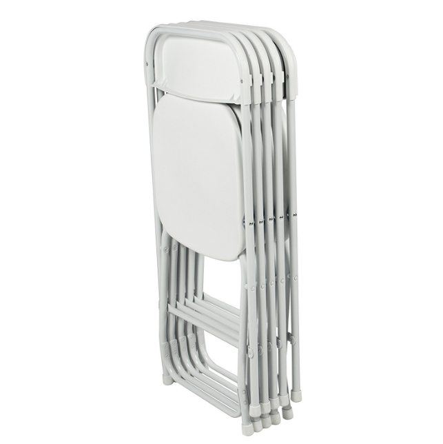 Best Choice Products Commercial White Plastic Folding Chairs