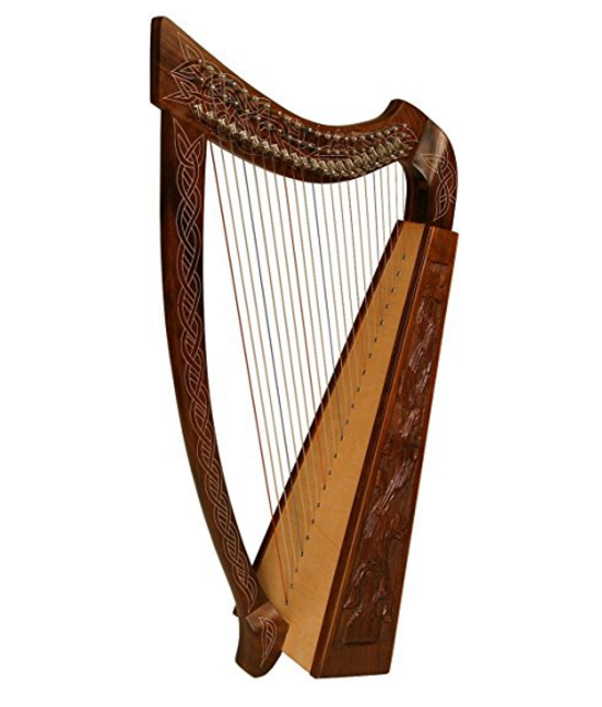 Roosebeck Heather Harp TM with 22 Strings – Vine Design