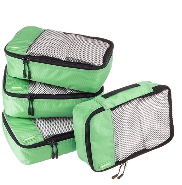 AmazonBasics 4-Piece Small Packing Cube Set