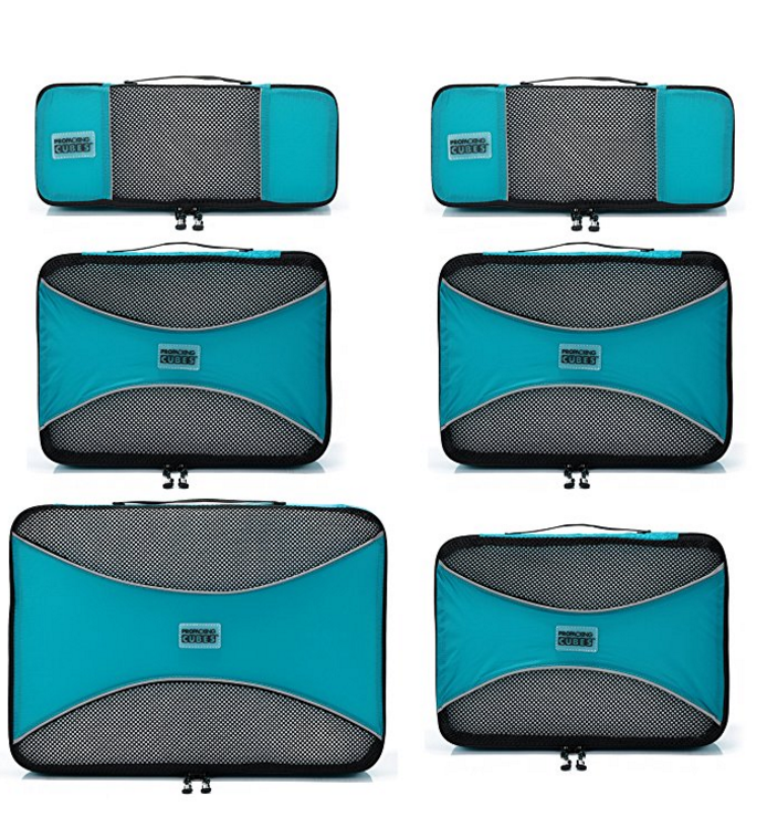 Pro Packing Cubes 6-Piece Travel Set