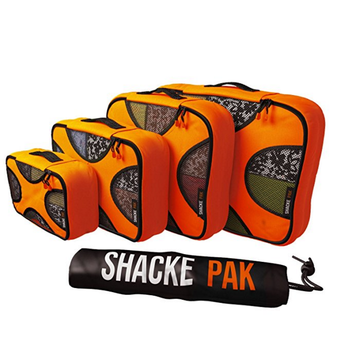 Shacke Pak - 4 Set Packing Cubes - Travel Organizers with Laundry Bag – Available in 8 Colors
