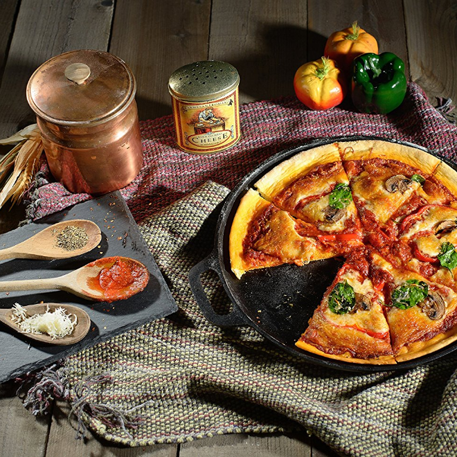 NutriChef Non-Stick Cast Iron Pizza Pan