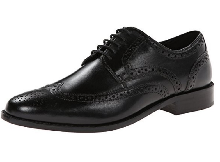 Nunn Bush Men's Nelson Wingtip Oxford - Made from Leather, Available in 3 Colors and Multiple Sizes