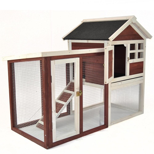 Advantek The Stilt House Rabbit Hutch with Pull-Out Tray for Easy Cleaning