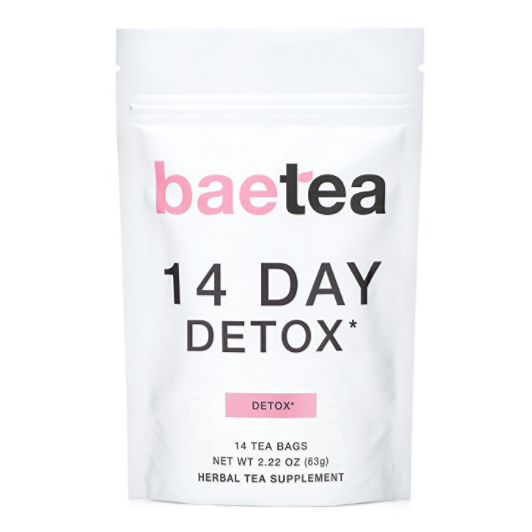 Baetea 14-Day Teatox Detox Herbal Tea Supplement - Reduces Bloating and Suppresses Appetite